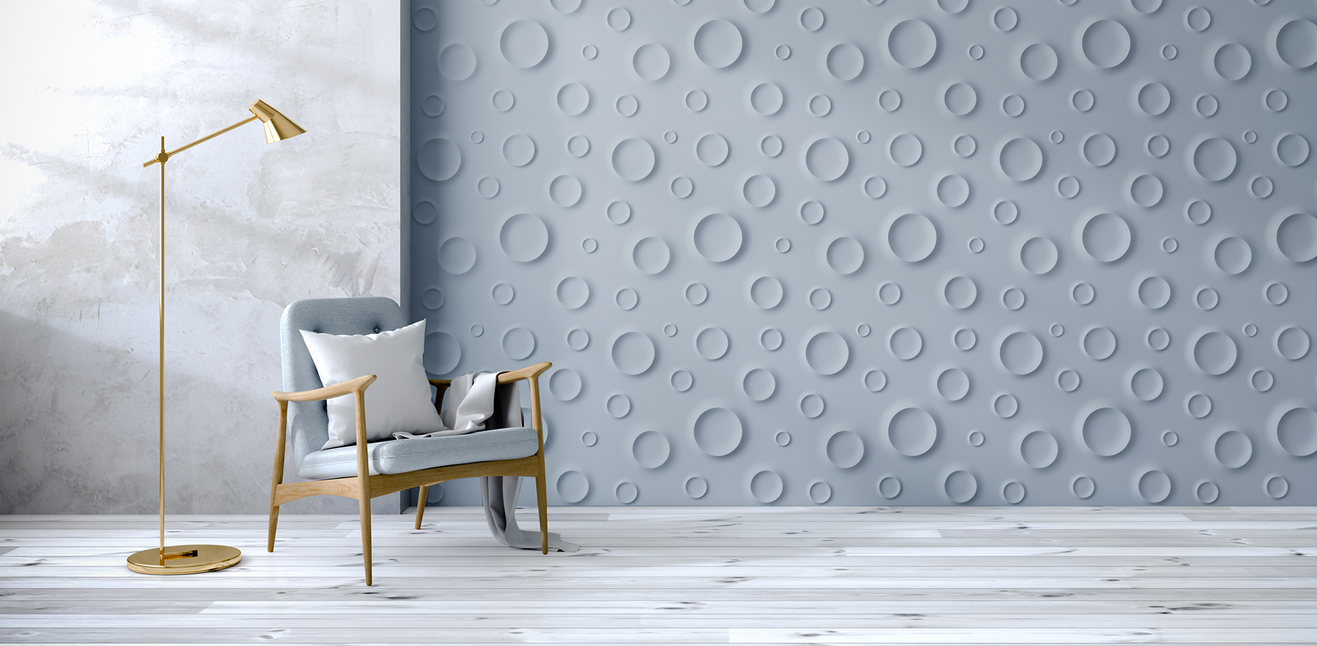 3d wall panels in gray